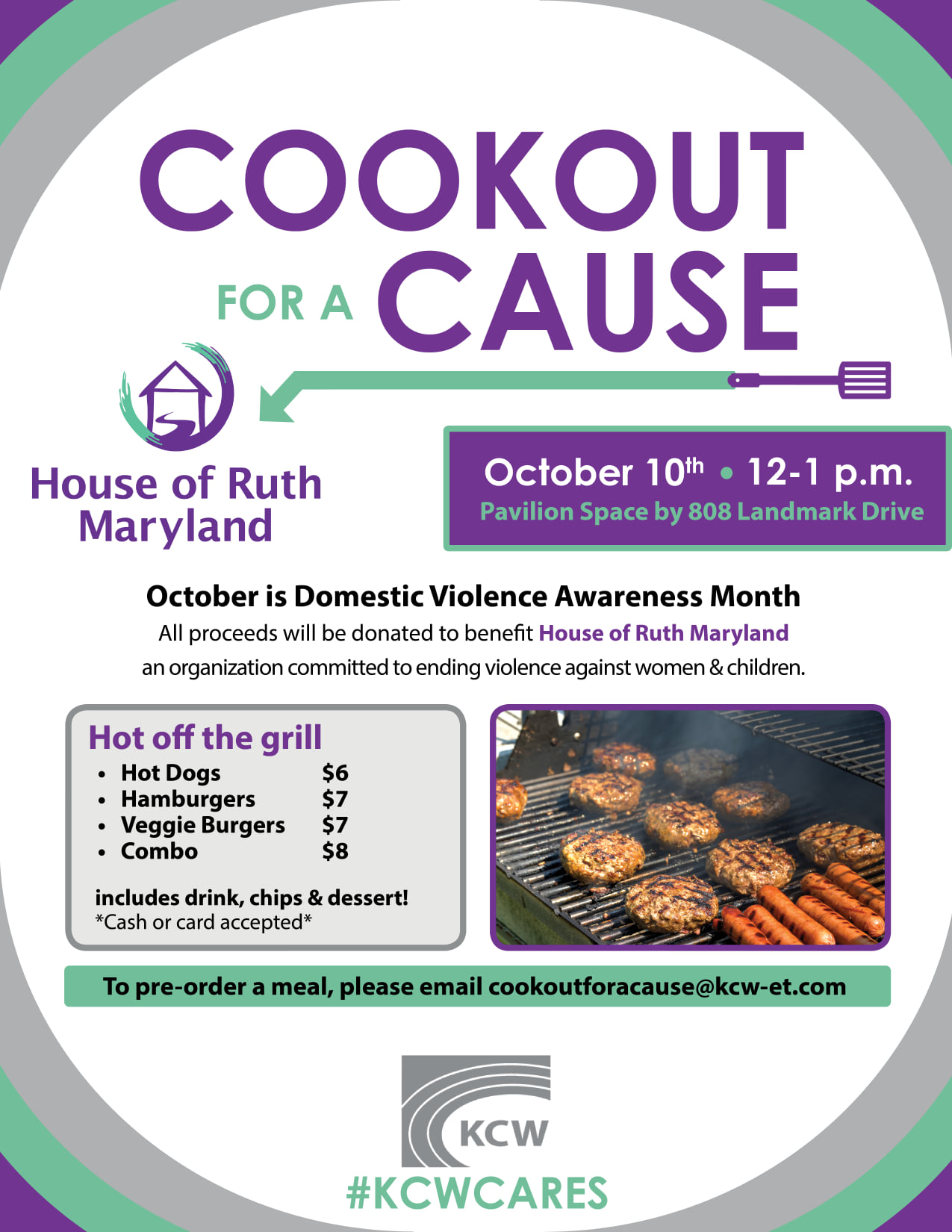 Cookout for a Cause October 10